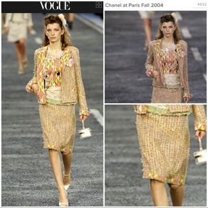 CHANEL Two-Piece Tweed Skirt Suit
